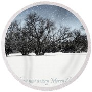 Wishing You A Very Merry Christmas Round Beach Towel