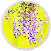 Wisteria Abstract Round Beach Towel