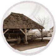 Wiston Wagon Shed Round Beach Towel by Dawn OConnor