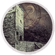 Witch Tower Round Beach Towel