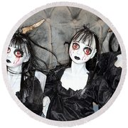 Witches Of Hallow's Eve Round Beach Towel