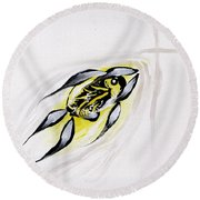With A Pure Heart Round Beach Towel