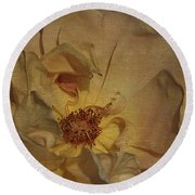 Withering Rose Round Beach Towel