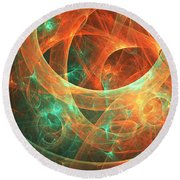 Within Round Beach Towel by Lourry Legarde
