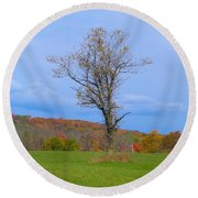 Without A Forest Round Beach Towel