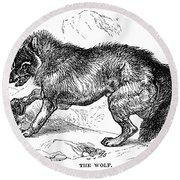 Wolf Attack Round Beach Towel