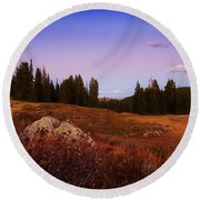 Wolf Creek Twighlight Round Beach Towel
