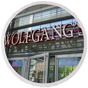 Wolfgangs Reflections Round Beach Towel