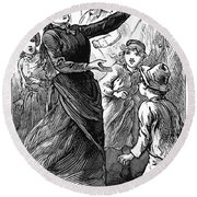 Woman Preaching, 1888 Round Beach Towel