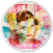 Woman's Soul Prelude Round Beach Towel