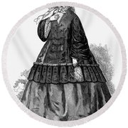Womens Fashion, C1850s Round Beach Towel