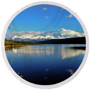 Wonder Lake II Round Beach Towel