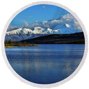 Wonder Lake Round Beach Towel
