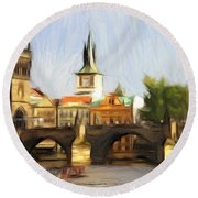 Wonderful Prague Round Beach Towel