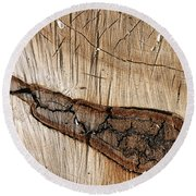 Wood Design Round Beach Towel