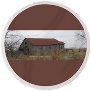 Wooden Barn Round Beach Towel