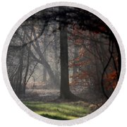 Woods - Dirt Road Photo - The Quiet Place Round Beach Towel