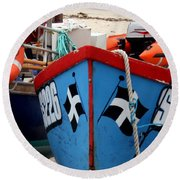 Working Harbour Round Beach Towel by Terri Waters