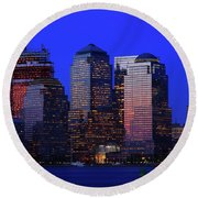 World Financial Center New York Round Beach Towel