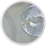 World In A Bubble Round Beach Towel