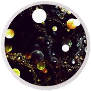 World Of Bubbles Round Beach Towel