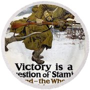 World War I: Poster, 1917 Round Beach Towel