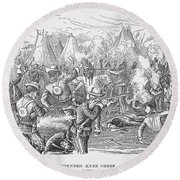 Wounded Knee, 1890 Round Beach Towel
