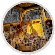 Wreck On The Information Highway Round Beach Towel
