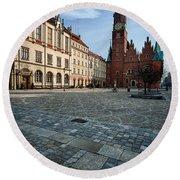 Wroclaw Town Hall Round Beach Towel