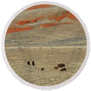 Wyoming Red Cliffs And Buffalo Round Beach Towel