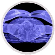 X-ray Of A Crab Round Beach Towel