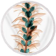 X-ray Of An Acanthus Flower Round Beach Towel