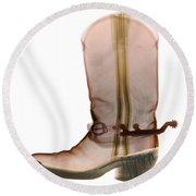 X-ray Of Cowboy Boot Round Beach Towel