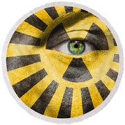 X-ray Vision Round Beach Towel