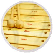 Xylophone Round Beach Towel by Tom Gowanlock