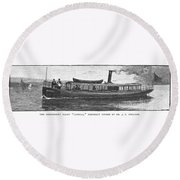 Yacht, 1882 Round Beach Towel