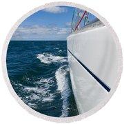 Yacht Lines Round Beach Towel