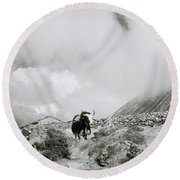 Yak In The Himalaya Round Beach Towel