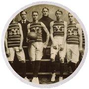 Yale Basketball Team, 1901 Round Beach Towel
