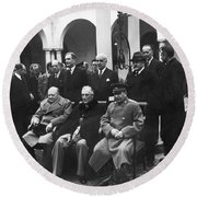 Yalta Conference, 1945 Round Beach Towel