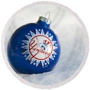 Yankees Ornament Round Beach Towel