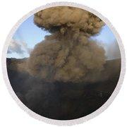 Yasur Eruption, Tanna Island, Vanuatu Round Beach Towel