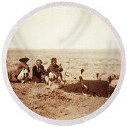 Yebichai Sweat, 1905 Round Beach Towel by Photo Researchers