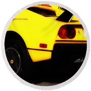 Yellow Ferrari Round Beach Towel
