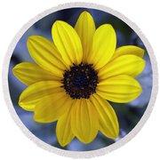 Yellow Flower 4 Round Beach Towel