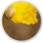 Yellow Icelandic Round Beach Towel