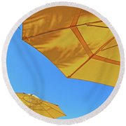 Yellow Time  Round Beach Towel