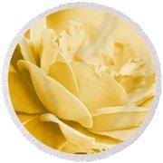 Yellow Tone Rose  Round Beach Towel