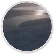 Yellowstone Lake Sunrise Round Beach Towel