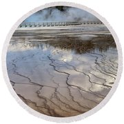 Yellowstone Reflection Round Beach Towel